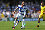 Tjarron Chery of QPR in action. Skybet EFL championship match, Queens Park Rangers v Leeds United at Loftus Road Stadium in London on Sunday 7th August 2016.<br /> pic by John Patrick Fletcher, Andrew Orchard sports photography.