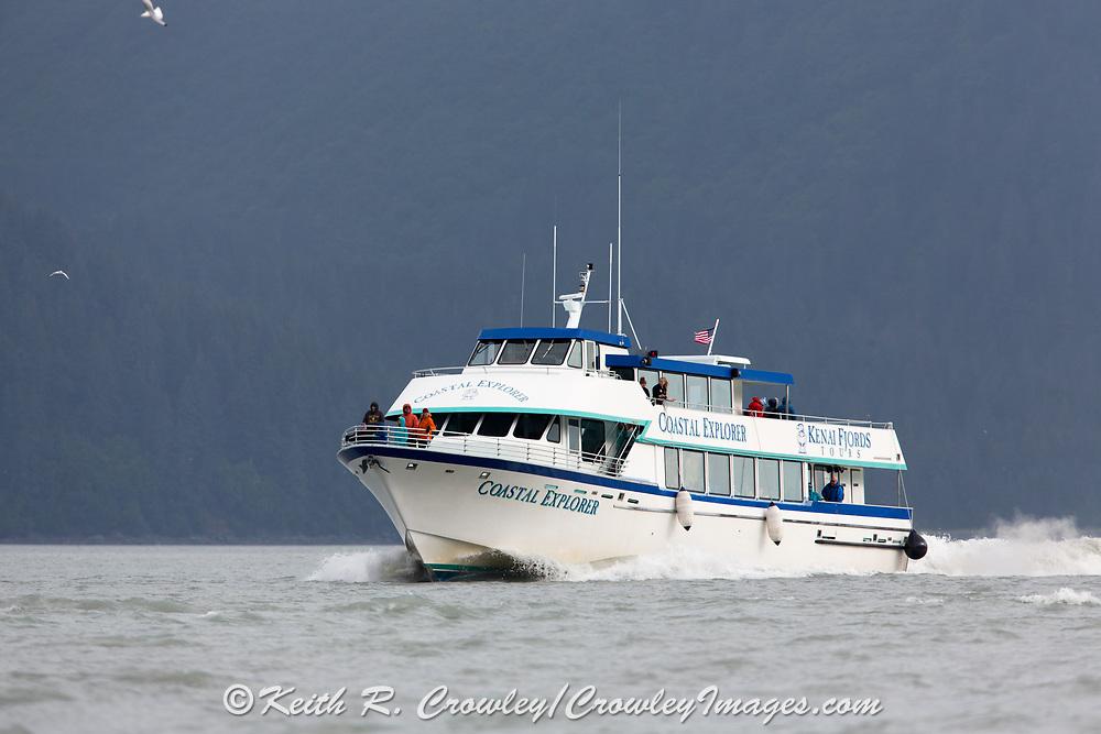 Boat tours take visitors to Kenai Fjords National Park near Seward, Alaska