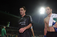 Photo: Paul Thomas.<br /> Werder Bremen v Chelsea. UEFA Champions League, Group A. 22/11/2006.<br /> <br /> dejected chelsea players John terry (L) and Joe Cole.