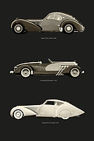 Europe has produced many revolutionary car models. Both in terms of technology and design. Who does not know these most precious old-timers in the world? The Bugatti, Duesenberg and Delage. –<br /> -<br /> BUY THIS PRINT AT<br /> <br /> FINE ART AMERICA / PIXELS<br /> ENGLISH<br /> https://janke.pixels.com/featured/revolutinary-european-car-designs-ii-jan-keteleer.html<br /> <br /> <br /> WADM / OH MY PRINTS<br /> DUTCH / FRENCH / GERMAN<br /> https://www.werkaandemuur.nl/nl/shopwerk/Revolutinaire-Europese-auto-ontwerpen-II/797717/132?mediumId=1&size=50x75<br /> –<br /> -