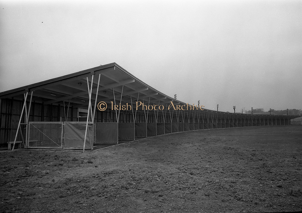 14/05/1965<br /> 05/14/1965<br /> 14 May 1965<br /> New Golf Range at Leopardstown, Foxrock, Dublin. Image shows a view of the cubicles on the driving range.