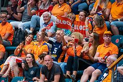 Orange support during Netherlands - Argentina, FIVB U20 Women's World Championship on July 10, 2021 in Rotterdam