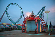 August, 24, 2008, Roller Coasterl at Six Flags Amusement Park in Eastern New Orleans, destroyed by Hurricane Katrina.