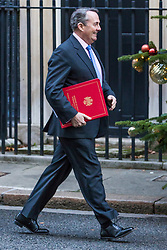 London, December 18 2017. Secretary of State for International Trade Liam Fox arrives at 10 Downing Street fora meeting of Prime Minister Theresa May's 'Brexit Cabinet'. © Paul Davey