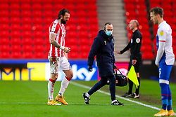Steven Fletcher of Stoke City walks to the touchline after receiving treatment for an injury - Mandatory by-line: Nick Browning/JMP - 19/12/2020 - FOOTBALL - Bet365 Stadium - Stoke-on-Trent, England - Stoke City v Blackburn Rovers - Sky Bet Championship