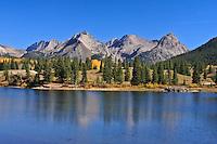 Malas Lake and the Grenadier Range. San Juan Mountains, Colorado,