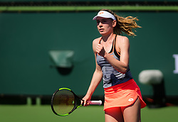 March 7, 2019 - Indian Wells, USA - Ekaterina Alexandrova of Russia in action during her first round match of the 2019 BNP Paribas Open WTA Premier Mandatory tennis tournament (Credit Image: © AFP7 via ZUMA Wire)