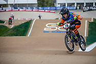 #28 (DOUDOUX Mathilde) FRA at Round 1 of the 2020 UCI BMX Supercross World Cup in Shepparton, Australia
