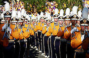 September 27, 2008; Baton Rouge, LA, USA; LSU Tigers marching band marches to the stadium prior to kickoff against the Misissippi State Bulldogs at Tiger Stadium in Baton Rouge. Mandatory Credit: Crystal LoGiudice-US PRESSWIRE ..