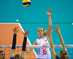 09-06-2012 VOLLEYBAL: EUROPEAN LEAGUE NEDERLAND - ISRAEL: ALMERE<br /> Maret Grothues<br /> ©2012-FotoHoogendoorn.nl / Peter Schalk