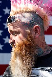 Sean Carlson at the Chopper Time annual old school chopper show at Willie's Tropical Tattoo in Ormond Beach during Daytona Beach Bike Week, FL. USA. Thursday, March 14, 2019. Photography ©2019 Michael Lichter.