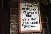 A sign making reference to Prime Minister Boris Johnson outside the Two Brewers public house is pictured on 3rd November 2020 in Windsor, United Kingdom. Struggling local businesses are preparing for England's second national lockdown to combat the spread of the coronavirus, which is set to begin on 5th November and to last four weeks.