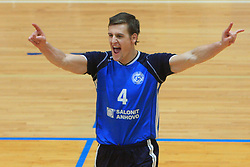 Jernej Potocnik at finals of Slovenian volleyball cup between OK ACH Volley and OK Salonit Anhovo Kanal, on December 27, 2008, in Nova Gorica, Slovenia. ACH Volley won 3:2.(Photo by Vid Ponikvar / SportIda).