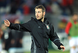 Wales Sports Scientist Ronan Kavanagh during the 2018 FIFA World Cup Qualifying, Group D match at the Boris Paichadze Dinamo Arena, Tbilisi. PRESS ASSOCIATION Photo. Picture date: Friday October 6, 2017. See PA story SOCCER Georgia. Photo credit should read: Tim Goode/PA Wire. RESTRICTIONS: Editorial use only, No commercial use without prior permission.