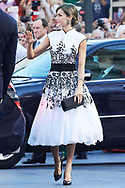 Queen Letizia of Spain arrived to the Campoamor Theater for the Princess of Asturias Award 2017 ceremony on October 20, 2017 in Oviedo, Spain