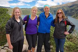 Maggie, Rachel, Melissa & Amy, Cuicocha Crater Lake