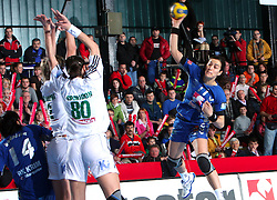 Sanja Damjanovic at EHF Champions league handball match in Group II between RK Krim Mercator and Gyori Audi Eto KC, on February 7, 2009, in Kodeljevo, Ljubljana, Slovenia. Gyori won 35:31. (Photo by Vid Ponikvar / Sportida)
