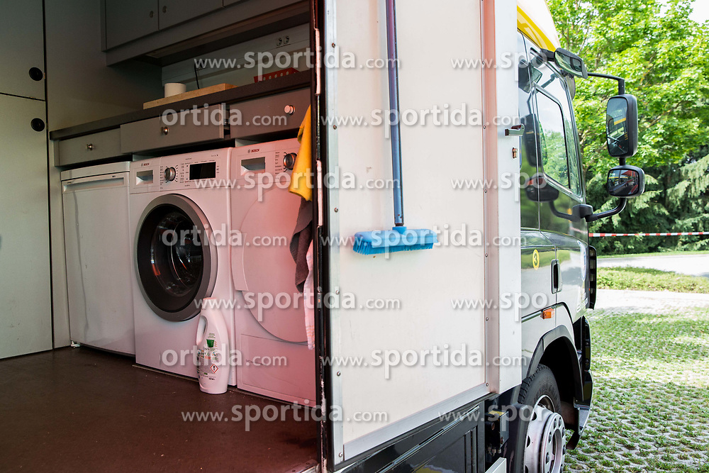 Bus of Team Lotto NL Jumbo one day prior to the 25th Tour de Slovenie 2018 cycling race, on June 12, 2018 in Hotel Livada, Moravske Toplice, Slovenia. Photo by Vid Ponikvar / Sportida