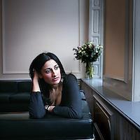 Nederland,Amsterdam ,31 januari 2006.<br /> De uit Pakistan afkomstige schrijfster Naema Tahir.<br /> Foto:Jean-Pierre Jans/