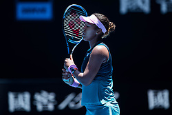 January 21, 2019 - Melbourne, VIC, U.S. - MELBOURNE, VIC - JANUARY 21: NAOMI OSAKA (JPN) during day eight match of the 2019 Australian Open on January 21, 2019 at Melbourne Park Tennis Centre Melbourne, Australia (Photo by Chaz Niell/Icon Sportswire (Credit Image: © Chaz Niell/Icon SMI via ZUMA Press)