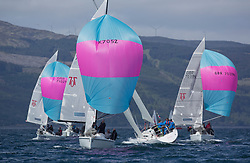 Clyde Cruising Club's Scottish Series 2019<br /> 24th-27th May, Tarbert, Loch Fyne, Scotland<br /> <br /> Day  1 - Perfect Conditions for Hunter 707 fleet<br /> GBR7052N, More T Vicar, Carl Allen, Royal North of Ireland YC<br /> <br /> Credit: Marc Turner / CCC