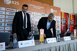 Jernej Mocnik and Ales Pipan at press conference before new season of KZS Nova KBM League 2016/17, on October 04, 2016, in Radisson Blu Plaza Hotel, Ljubljana. Photo by Matic Klansek Velej / Sportida.