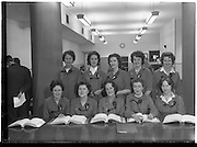 31/05/1960<br /> 05/31/1960<br /> 31 May 1960<br /> Aer Lingus Agency Sales Telephone Girls. Front row (l-r): May Egan; Peggy Byrne; Elizabeth Kelly; Marlene Hackett and Catherine O'Leary.<br /> Back Row (l-r): Loretto Ryan; Betty Cooke; Eileen Gahan; Marge Ryan and Claire Spillane.