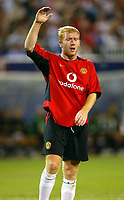 Photo Aidan Ellis.<br />Manchester United v juventus (Champions World Match at New York Giants Stadium East Rutherford).31/07/03.<br />United's Paul Scholes