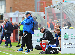 Grimsby Town manager Russell Slade looks on  - Mandatory by-line: Nizaam Jones/JMP - 17/04/2017 - FOOTBALL - LCI Rail Stadium - Cheltenham, England - Cheltenham Town v Grimsby Town - Sky Bet League Two