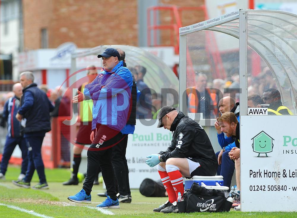 Grimsby Town manager Russell Slade looks on  - Mandatory by-line: Nizaam Jones/JMP - 17/04/2017 - FOOTBALL - LCI Rail Stadium - Cheltenham, England - Cheltenham Town v Grimsby Town - Sky Bet League Two