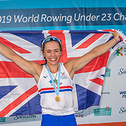 Ella Toa wins for GB the former NZ junior rower <br /> <br /> Compete at the FISA U23 Worlds on Saturday 27 July 2019 at Nathan Benderson Park, Sarasota, Florida, USA © Copyright photo Steve McArthur / www.photosport.nz