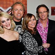 NLD/Hilversum/20100407 - Perspresentatie X-Factor 2010, jury, Stacey Rookhuizen, Gordon Heuckeroth, Angela Groothuizen en Eric van Yijn