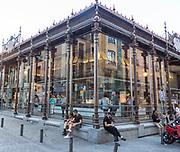 Mercado de San Miguel market historic building exterior, Madrid city centre, Spain built 1916