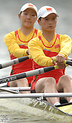 Amsterdam, HOLLAND, CHN W2X,  bow Qin LI and Liang TIAN, move away from the start in a heat of the men's pair, at the 2007 FISA World Cup Rd 2 at the Bosbaan Regatta Rowing Course. [Date] [Mandatory Credit: Peter Spurrier/Intersport-images]..... , Rowing Course: Bosbaan Rowing Course, Amsterdam, NETHERLANDS