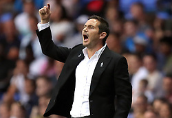 Derby County manager Frank Lampard during the Sky Bet Championship match at the Madejski Stadium, Reading.