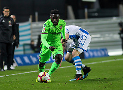 March 15, 2019 - San Sebastian, Guipuzcoa, Spain - Moses of Levante  in action during La Liga Spanish championship, , football match between Real Sociedad and Levante, March 15th, in Anoeta Stadium in San Sebastian, Spain. (Credit Image: © AFP7 via ZUMA Wire)