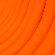 Bright orange curves pattern (Shanghai, China - Sep. 2008) (Image ID: 080925-1244452a)