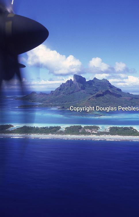 Aerial of Bora Bora, French Polynesia<br />