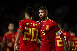 September 11, 2018 - Elche, Spain - Marco Asensio of Spain  celebrates after scoring his sides first goal whit Sergio Ramos during the UEFA Nations League football match between Spain and Croatia at Martinez Valero Stadium in Elche, Spain on September 11, 2018. (Credit Image: © Jose Breton/NurPhoto/ZUMA Press)