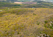 Aerial view of Devil's Lake State Park, near Baraboo, Wisconsin, USA on a beautiful spring day.