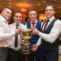Miltown Malbay Footballers Graham Kelly, Brian Curtin, Eoin O'Brien and Gordon Kelly