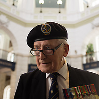 Liverpool, UK, 25th May, 2013. Ex Royal Navy veteran Mr Snelling.  He served on HMS Wild Goose with Johnny Walker. He was in town as part of the 70th anniversary celebrations of the Battle of the Atlantic.
