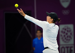 February 12, 2019 - Doha, QATAR - Ajla Tomljanovic of Australia in action during her first-round match at the 2019 Qatar Total Open WTA Premier tennis tournament (Credit Image: © AFP7 via ZUMA Wire)