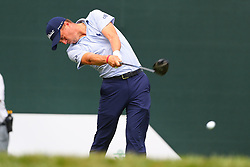 August 25, 2018 - Paramus, NJ, U.S. - PARAMUS, NJ - AUGUST 25:  Justin Thomas of the United States plays his shot from the first tee  during the third round of The Northern Trust on August 25, 2018 at the Ridgewood Championship Course in Ridgewood, New Jersey.   (Photo by Rich Graessle/Icon Sportswire) (Credit Image: © Rich Graessle/Icon SMI via ZUMA Press)