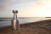 17 June 2007:  NHL Stanley Cup visits Newport Beach, CA at sunset for a photo shoot with fans.  Anaheim Mighty Ducks won the NHL Trophy on June 6, 2007 in Orange County, CA.