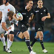 Israel Dagg, New Zealand, in action during the New Zealand V France, Pool A match during the IRB Rugby World Cup tournament. Eden Park, Auckland, New Zealand, 24th September 2011. Photo Tim Clayton...