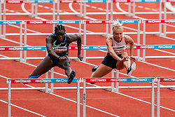 SharonaBakkerof Netherlands in action on the 100 meter hurdle during FBK Games 2021 on 06 june 2021 in Hengelo.