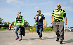 Forest Green Rovers fans make there way to the stadium prior to kick-off - Mandatory by-line: Nizaam Jones/JMP - 19/09/2020 - FOOTBALL - New Lawn Stadium - Nailsworth, England - Forest Green Rovers v Bradford City - Sky Bet League Two