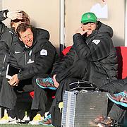 Werder Bremen's coach Thomas Schaaf (R) during their Tuttur.com Cup Final soccer match Werder Bremen between Werder Bremen v Vfl Wolfsburg at Mardan stadium in Antalya Turkey on 09 Wednesday January, 2013. Photo by Aykut AKICI/TURKPIX