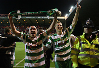 Photo: Rich Eaton.<br /> <br /> Nottingham Forest v Yeovil Town. Coca Cola League 1. Play off Semi Final 2nd Leg. 18/05/2007. Lee Morris left and Scott Guyet right celebrate victory 5-2 over Forest